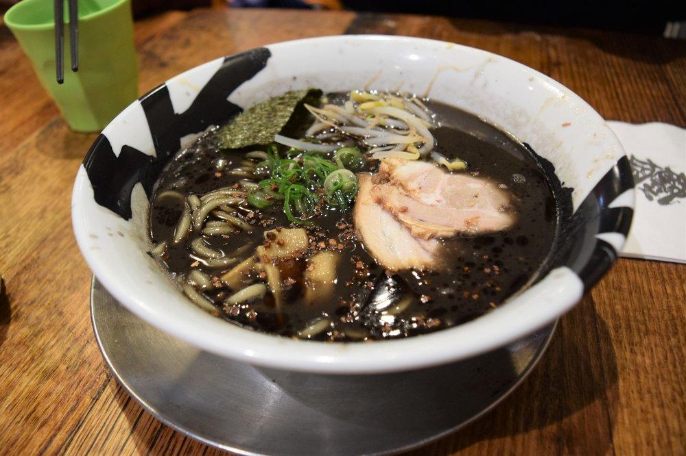 Squid ink ramen -- yup it's black soup