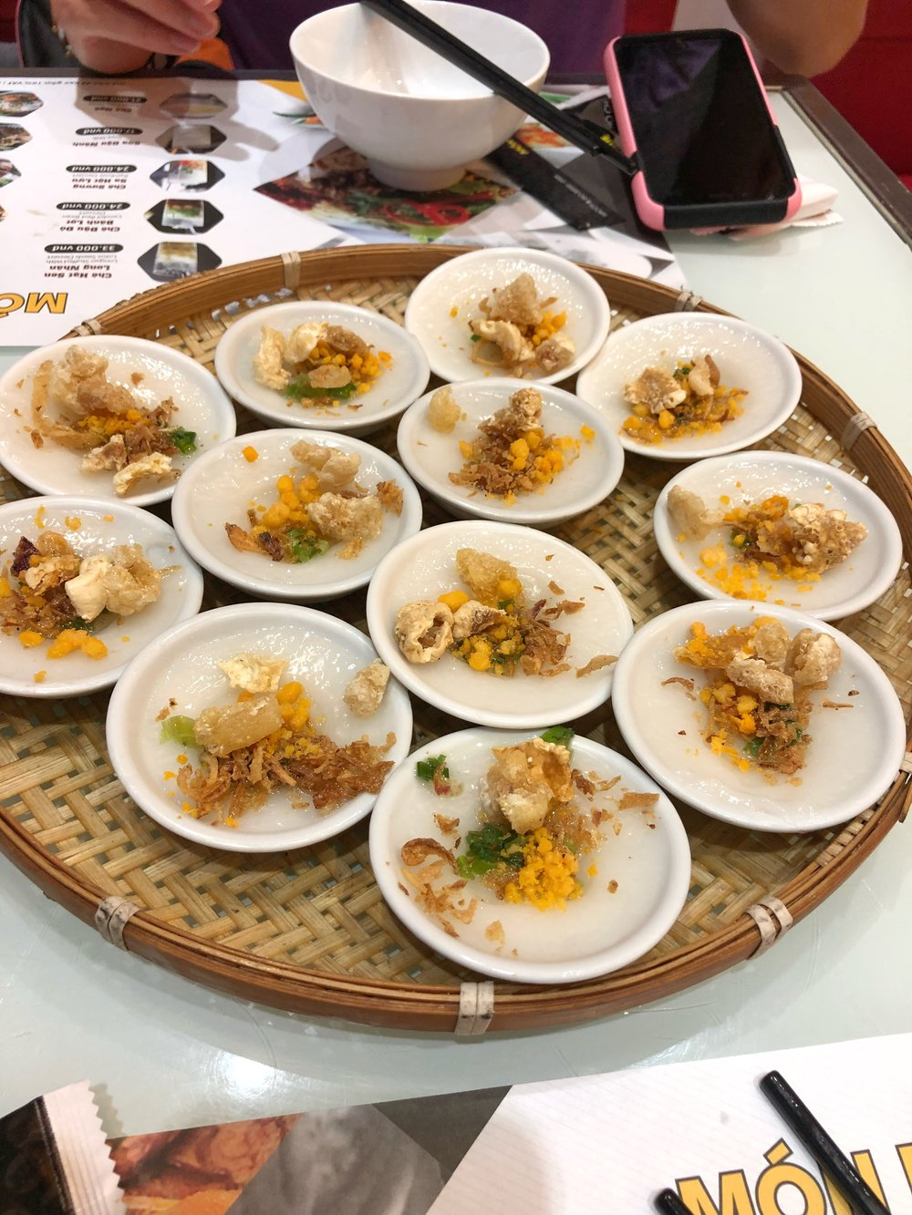 Sticky Rice Paper with toppings