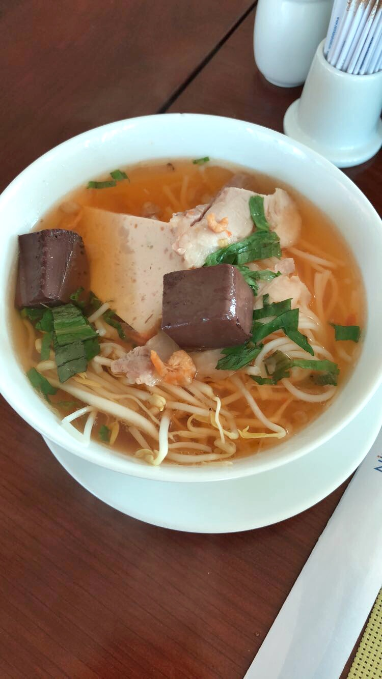 Pho with Blood (the squares on top)