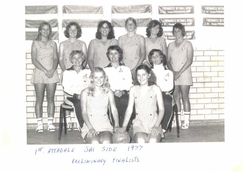 The 1st Attadale SA1 side, 1977, Preliminary Finalists
