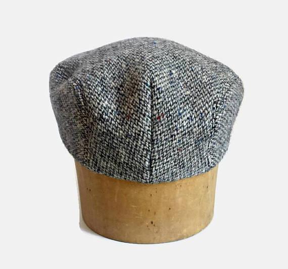 13df945b4da Driving Cap in Vintage Harris Tweed - Men s Driving Cap - Custom Flat Cap - Herringbone  Tweed Cap