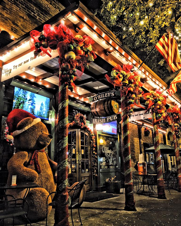 Christmas time at O'Riley's Irish Pub