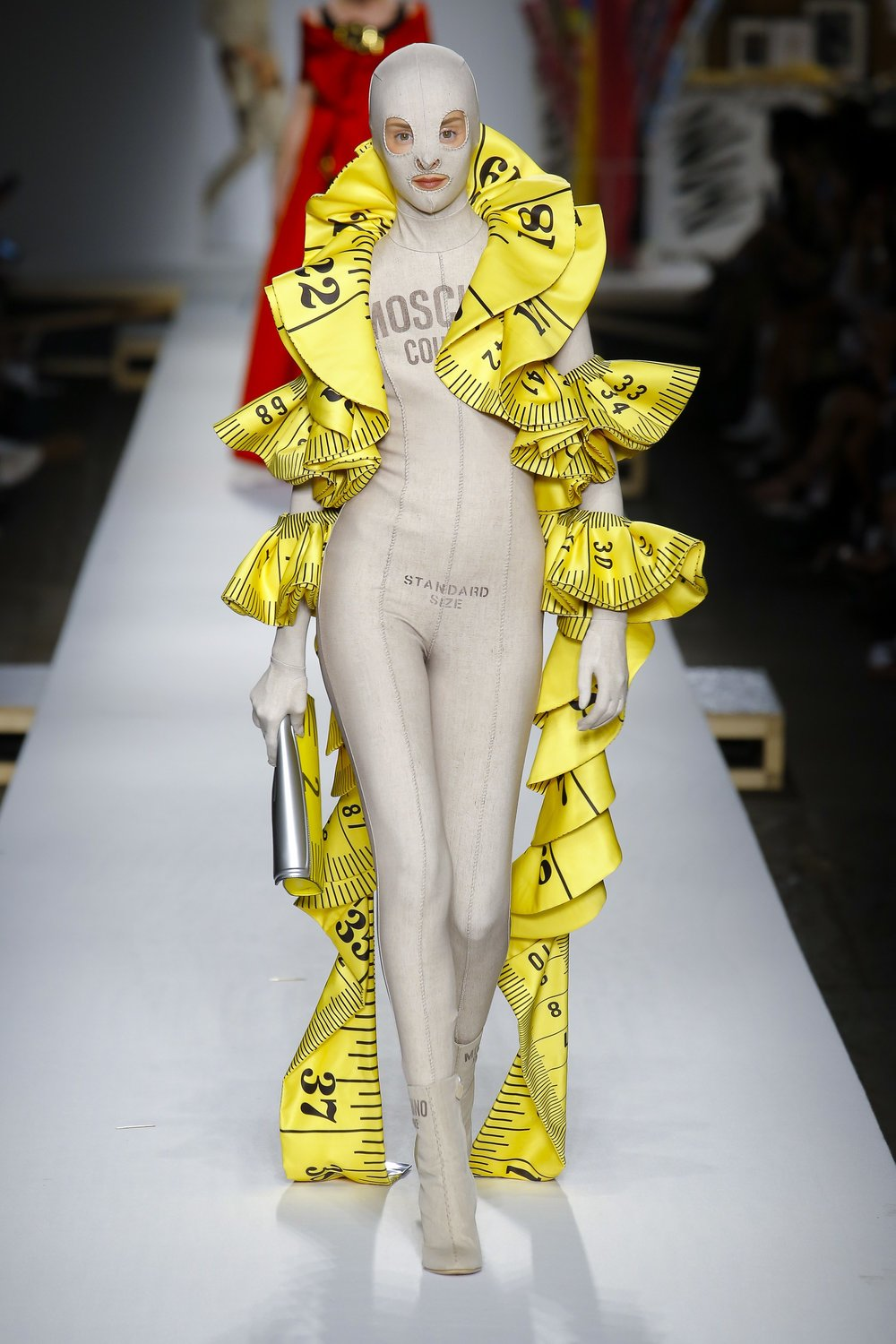 Moschino SS19 Jeremy Scott Measuring Tape Boa