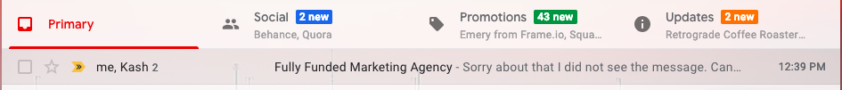Email Promotion Quiz: Which messages do you think I'll look at first? Does anyone really go phishing into Promotions anymore?
