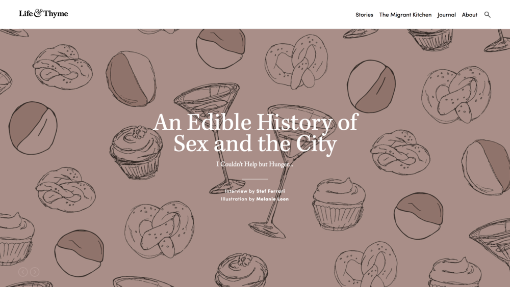 An Edible History of Sex and the City (1/3)