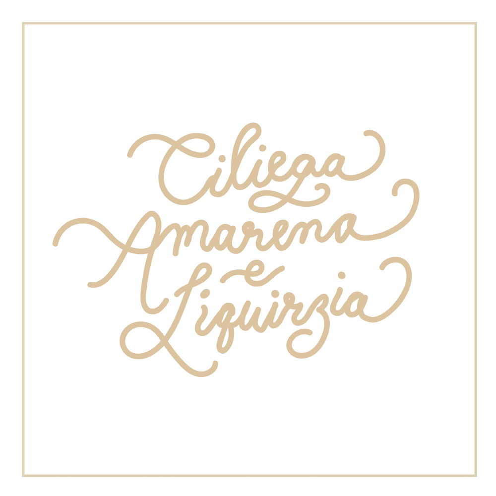 Life-and-Thyme_Melanie-Loon_Illustrator_Hand-Lettering_Cursive_Typography_Font_Gelato_Flavors_Italian-01-Ciliega-Amarena-Liquirizia.png