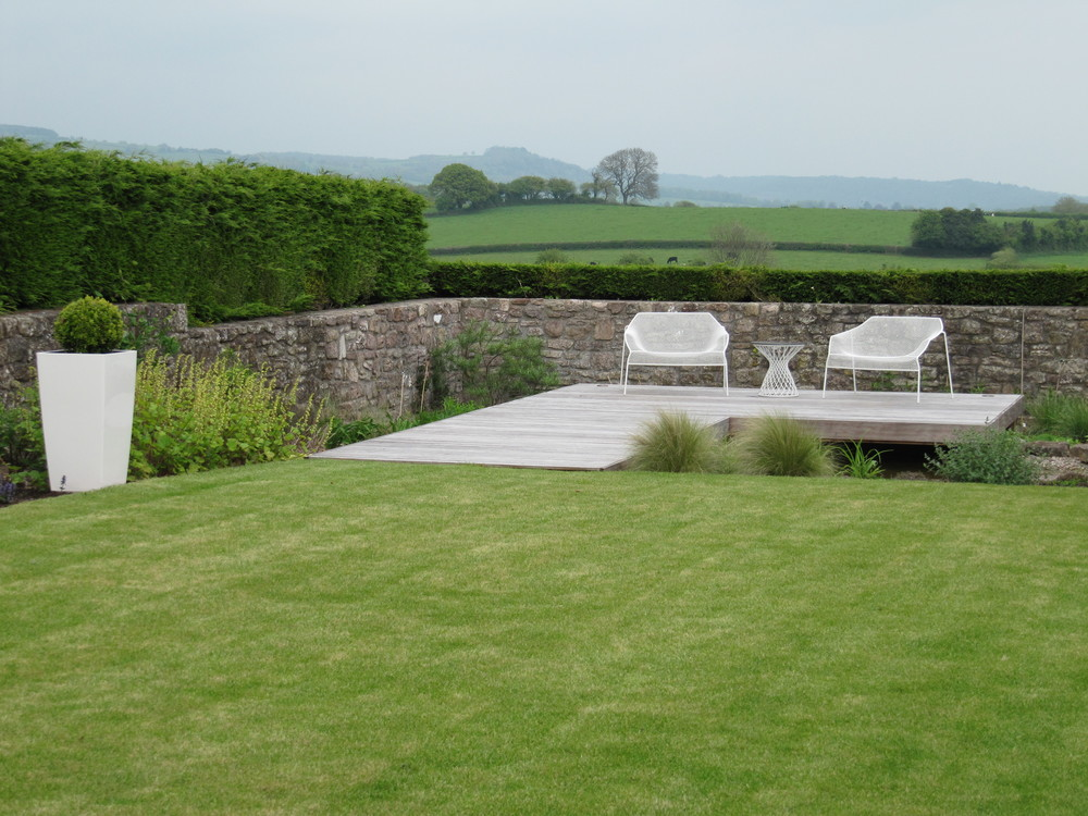 Simple, smart and contemporary, looking out over this garden is all about the view.