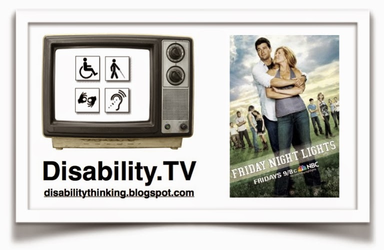 Disability.TV logo next to Friday Night Lights tv show poster