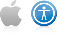 Apple computer logo and accessibility logo