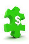 Puzzle piece with dollar sign