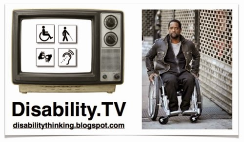 Disability.TV logo on the left, photo of Blair Underwood as Ironside in a wheelchair
