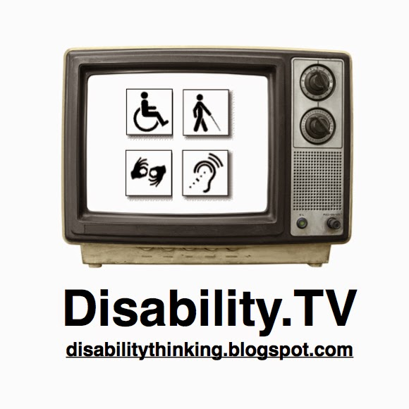 Disability.TV Podcast logo with URL disabilitythinking.blogspot.com