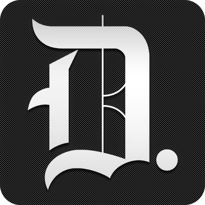 Daily Dot stylized D logo, white letter on black background