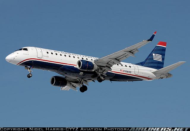 Photo of US Airways regional jet in flight