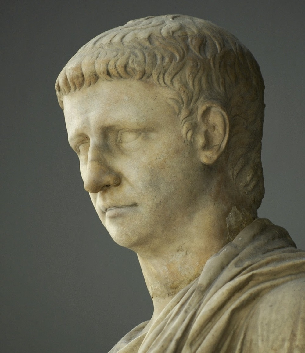 Photo of a marble statue of Emperor Claudius
