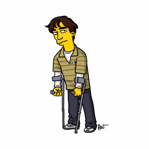"Cartoon rendering of ""Breaking Bad"" character in the style of ""The Simpsons"""