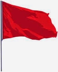 illustration of a red flag flying