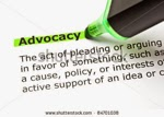 picture of a green highlighter pen highlighting the word Advocacy on a page of text