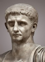 photo of a marble bust of Roman Emperor Claudius