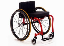 Photo of sleek, sporty-looking lightweight wheelchair
