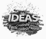 word cloud around the word IDEAS