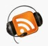 RSS feed icon with recording headset