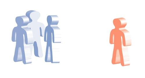 stick figures illustrate social stigma
