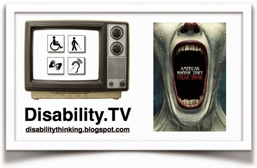 Disability.tv logo and AHS Freak Show poster