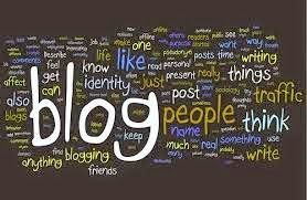 Word cloud around the word Blog