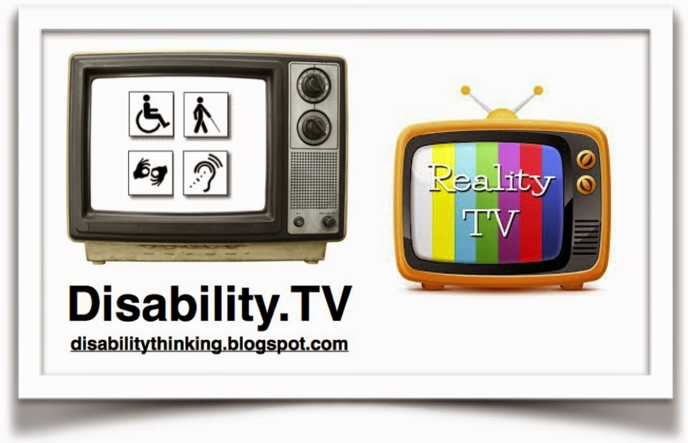 Disability.TV logo on the left, Reality TV illustration on the right
