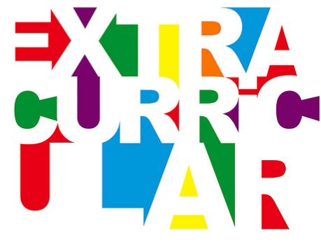Colorful representation of the word EXTRACURRICULAR