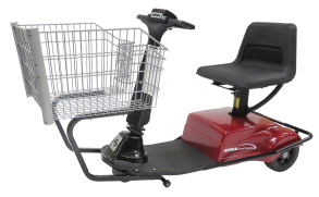 Photo of an electric mobility shopping cart