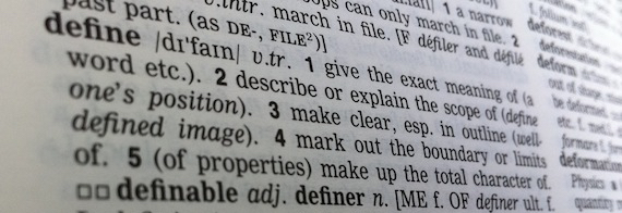 """Picture of a dictionary page with definitions of the word """"define"""""""