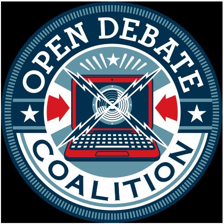 Circular logo of the Open Debate Coalition