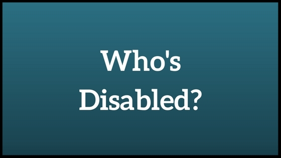Who's Disabled in bold white letters on a dark aqua blue background