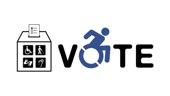 Logos promoting voting by people with disabilities