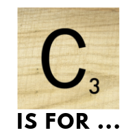 """""""C"""" Scrabble tile logo with caption Is For …"""