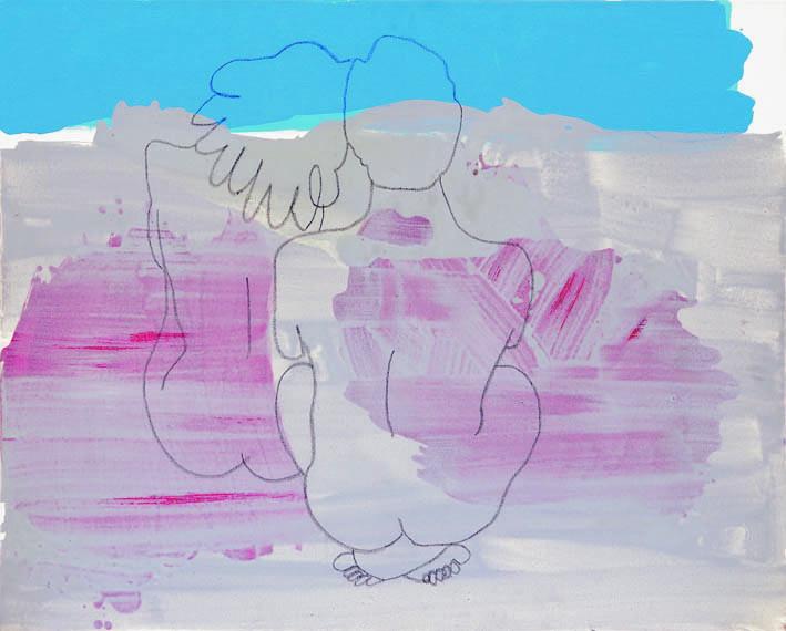 "Ankalina Dahlem; ""Dreaming""; 2001; Acryl auf Leinwand; 90 x 115 cm"