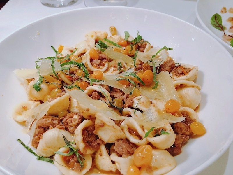 Orecchiette with lamb ragu.