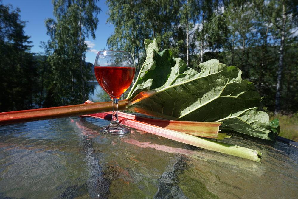En klarnet rabarbrasaft er vakker - særlig av røde sorter.