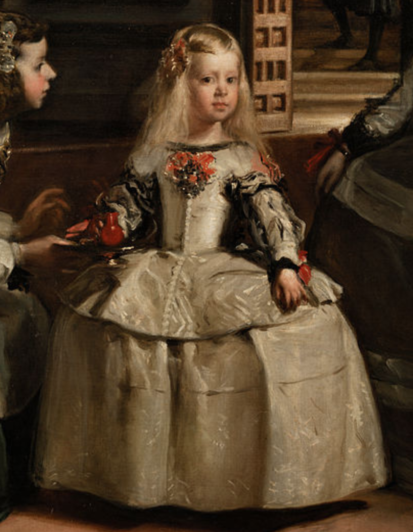 The Infanta Margarita Teresa from  Las Meninas , Diego Velázquez. 1656, oil on canvas. Museo del Prado, Madrid. Full, high-resolution picture available on the  Prado Museum's website .