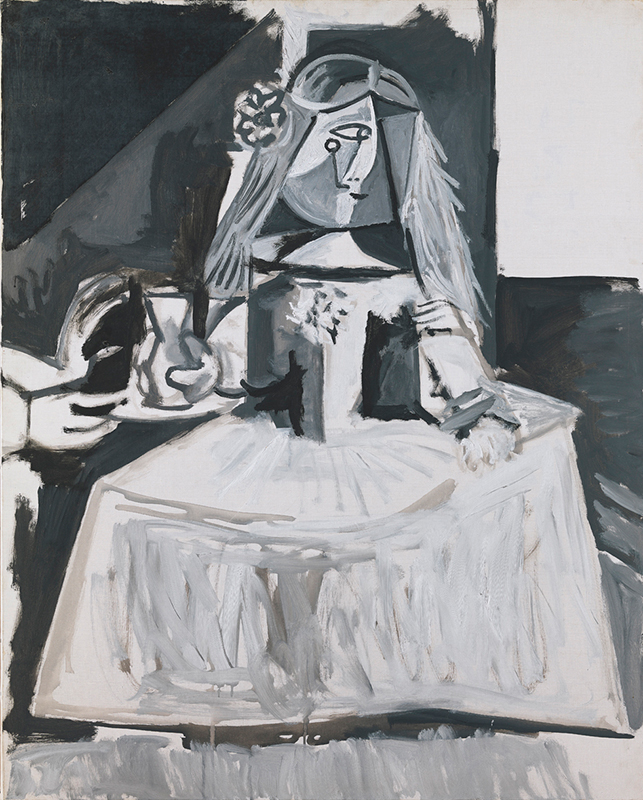 Las Meninas (Infanta Margarida Maria),  Pablo Picasso. 1957, oil on canvas. Museu Picasso, Barcelona. Picture taken from Museu Picasso's blog post,  The chronology of  Las Meninas  of Picasso .