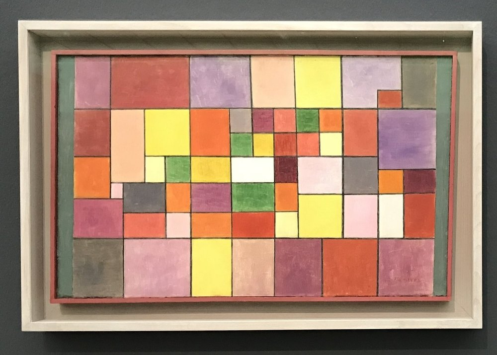 Harmonie der nördlichen Flora (Harmony of the Northern Flora) , Paul Klee. 1927, oil on cardboard. Zentrum Paul Klee, Bern (picture taken while the work was on loan to the Fondation Beyeler, Riehen).