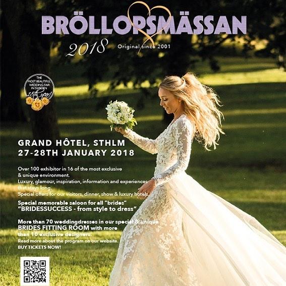 Nu drar bröllopsmässorna igång på allvar och först ut är @brollopsmassanstockholm på @grandhotelstockholm. Ni vill inte missa vårt mässerbjudande så kom till oss i Vinterträdgården nu i helgen ✨! 📷 av @kickifotograf