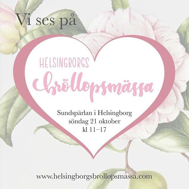 Alla ni som planerar bröllop i södra Sverige, hälsa på oss på @hbgsbrollopsmassa den 21a oktober på @sundsparlan!