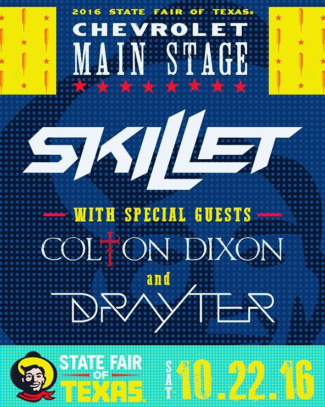 10.22.16- State Fair of Texas, Chevrolet Main Stage with @skilletmusic and @coltondixonmusic // should be an awesome show! -- @statefairoftx @livminer @coleschwartz @camcovello @ernieball @chevrolet @fractalaudio @audixmics @orangeamplifiers @salonpompeo @maccosmetics @64audio