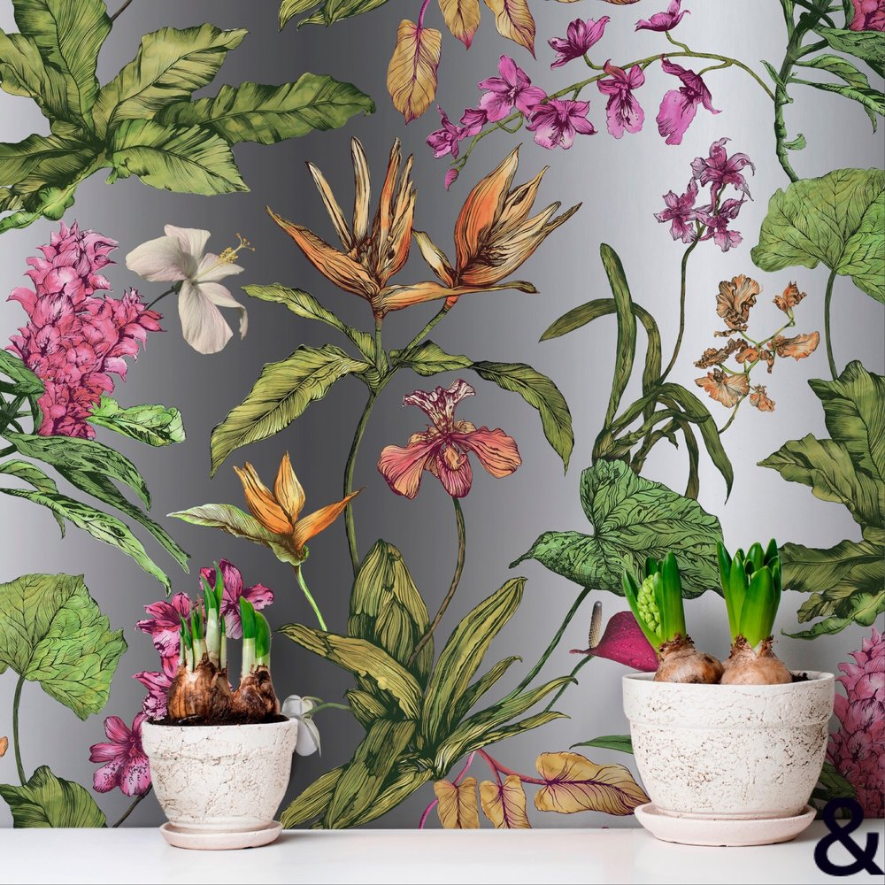 Tropical Hothouse Botanical Wallpaper