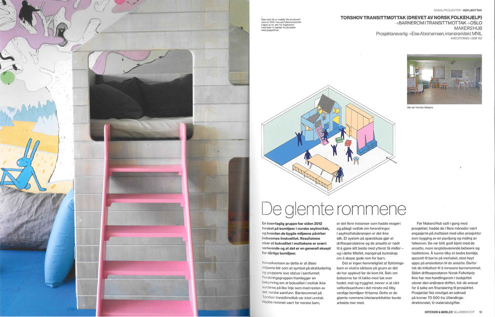 SHOWCASE OF THE PROJECT BARNEBASEN (at Torshov transittmottak) IN NIL's YEARSBOOK 2017. THE PROJECT WAS CHOSEN AS ONE OF FIVE SIGNATURE PROJECTS. DOWNLOAD THE ARTICLE  HERE .