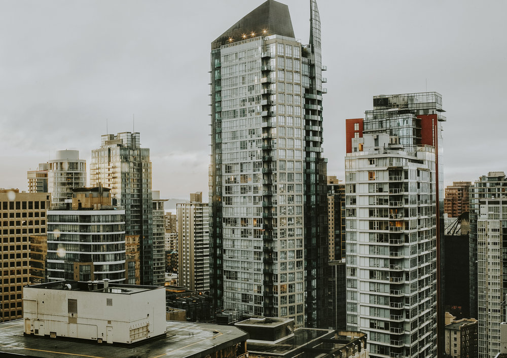 My view from Vancouver Marriott Pinnacle Hotel room