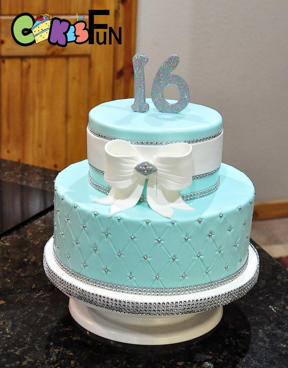 16th Birthday - teal and rhinestones.jpg